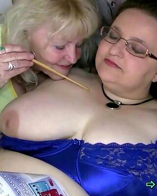 Granny seduces a fat chick