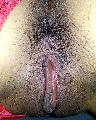 Beautiful view of Josy's hairy ass and pink pussy