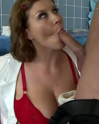 Cocksucking MILF nurse getting fucked